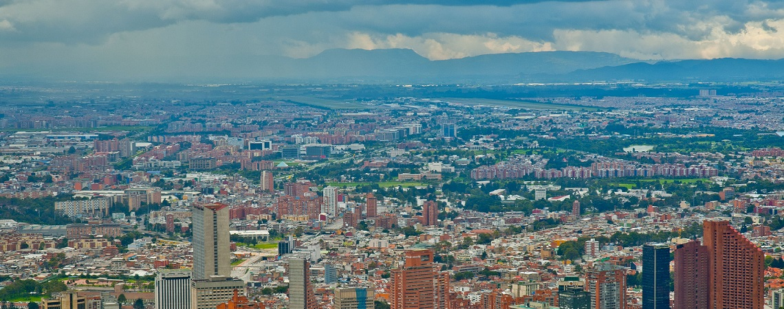 View of Bogota city from Monserrate