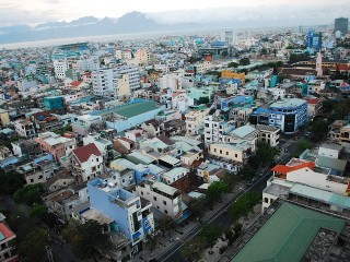 Aerial view of Da Nang, Vietnam.